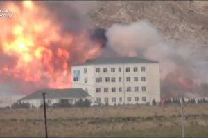 Huge Explosion At Arms Factory Azerbaijan – Video