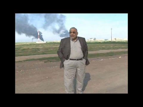 Iraq – Burning Oilfields After Fighting In Iraq