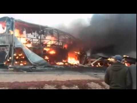 Morocco – Bus Crashes With Petrol Tanker And Explodes Killing At Least 33 People – Video