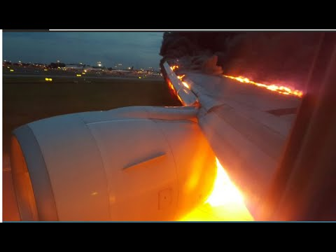 Singapore Airlines Engine & Wing Catches Fire – Emergency Landing – No Casualties – VIDEO