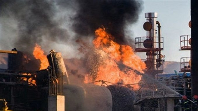 Iran – Fire At Tehran Oil Refinery Kills 7, Injures 14