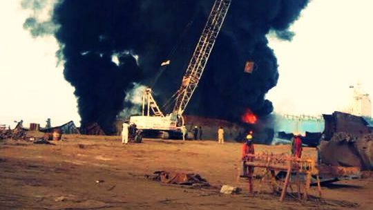Defunct FPSO Catches Fire Again At Gadani
