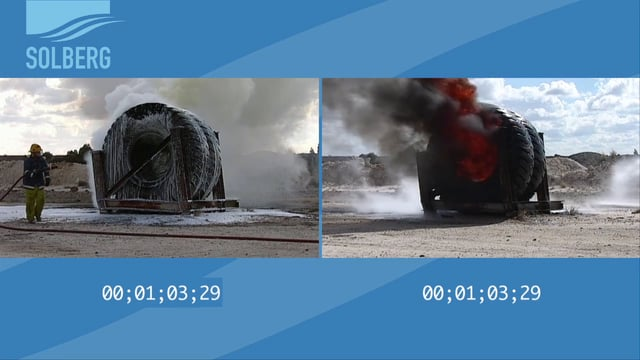 Solberg FIRE-BRAKE™ Class A Foam Tire Fire Test