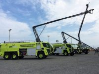 Oshkosh Delivers Three Striker 6×6 ARFF Vehicles To Kotoka International Airport In Ghana