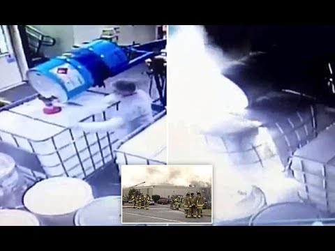 CCTV Video Captures Chemical Explosion That Killed 1 And Injured 100