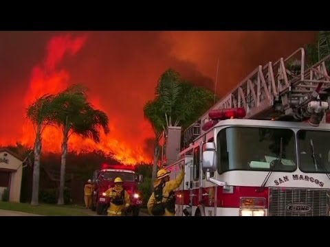 USA California Fires: More Mass Evacuations As Thomas Fire Rages On