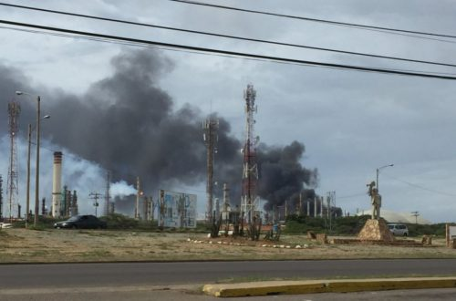 Fire In The Venezuela's Biggest Refinery