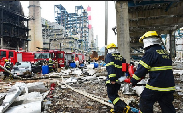 China-Four Killed In Explosion At A Chemical Plant