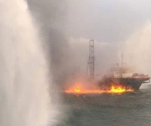 Iraq – Tugs Tackle Fatal Fire On Oil Exploration Ship