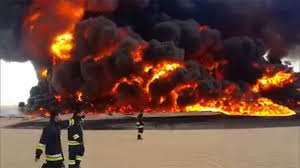 Oil Field Fire