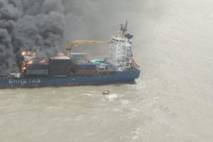 India Container Ship Fire
