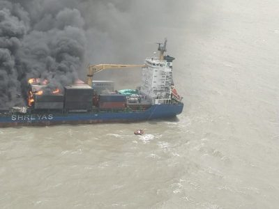 India – Containership Abandoned In Bay Of Bengal Due To Major Fire