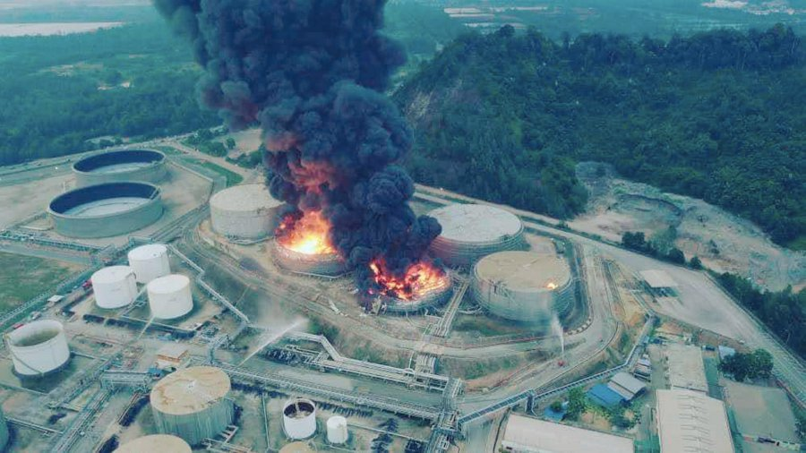 Malaysia – One Injured In Kemaman Refinery Blaze