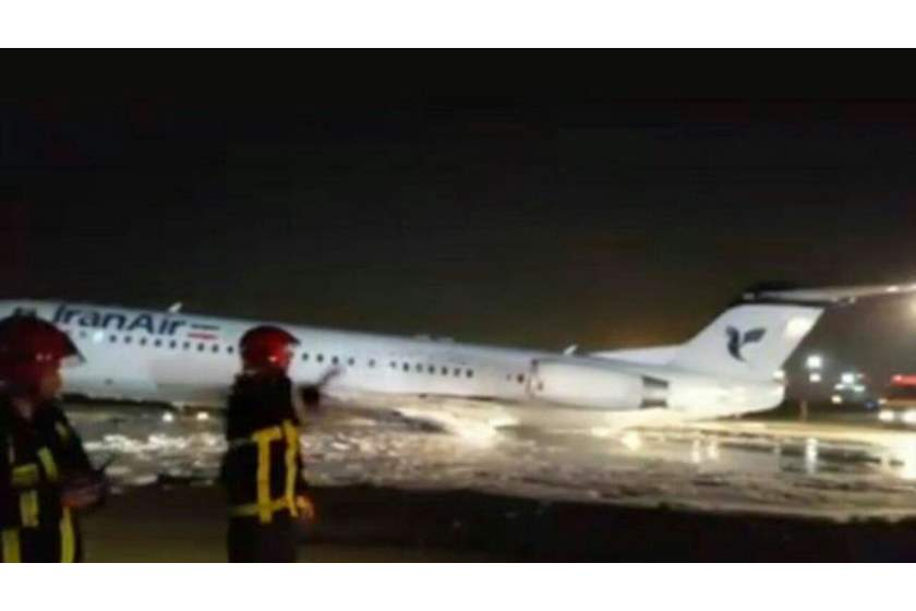 Iran – Plane Catches Fire On Landing At Tehran Airport