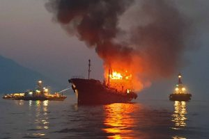 S Korea Tanker Fire 001