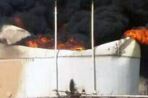 Iran Port Ref Fire