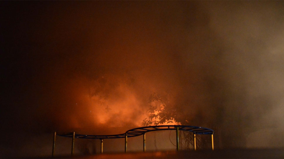 India – Massive Blaze In Bikaner Oil Refinery