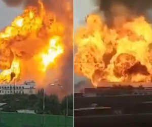 Russia – Power Station Fire: Huge Blaze Erupts Near Moscow