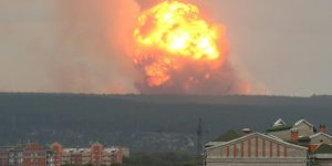 Russia – Massive Explosions Forces More Than 16,000 People To Flee Homes – Video