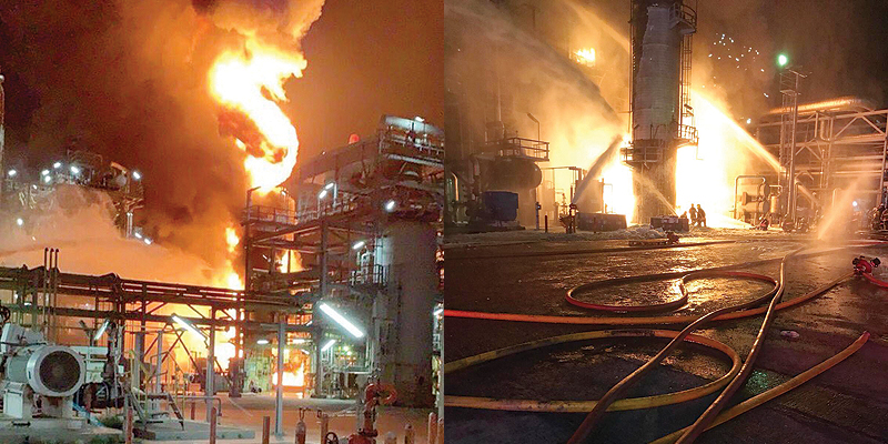 Kuwait – Fire In Shuwaikh Oil Refinery