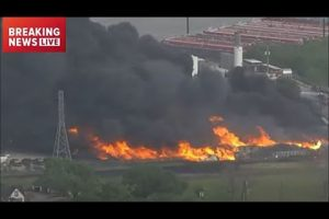 USA – Texas – Large Chemical Fire Report & Video